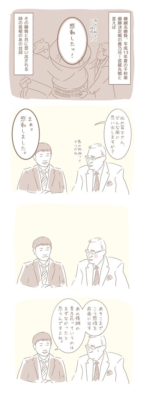 北の富士さんの名言集「まぁ。感動しました」