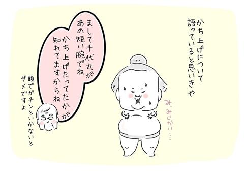 北の富士さんの名言集「まして千代丸があの短い腕でね、かち上げたってたかが知れてますからね」