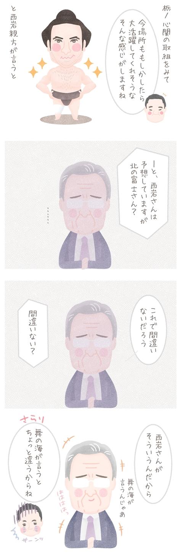 北の富士さんの名言集「西岩さんがそう言うんだから。舞の海が言うとちょっと違うからね」