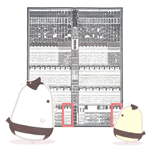 実は、序ノ口も前頭。番付に書いてある漢字の意味は?